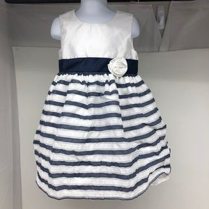 George 4T Girls True Navy Party Dress. - A0909